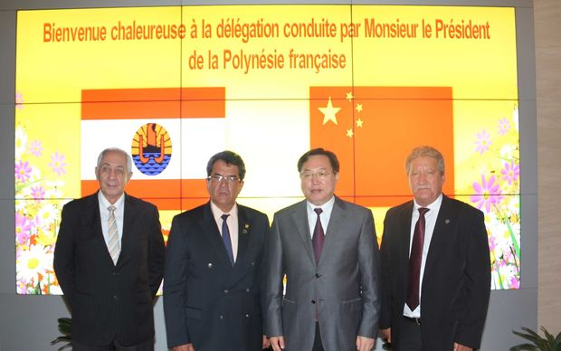 French Polynesia president Edouard Fritch visits China