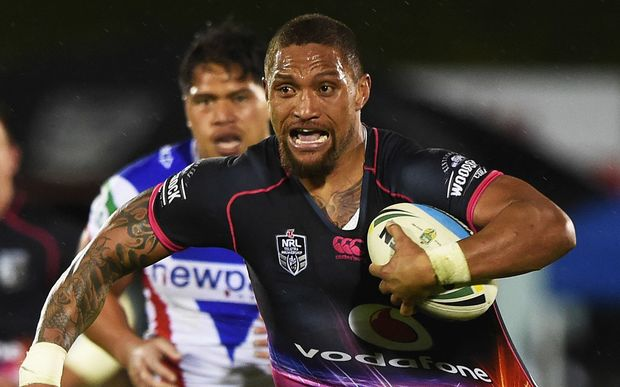 Warriors winger Manu Vatuvei