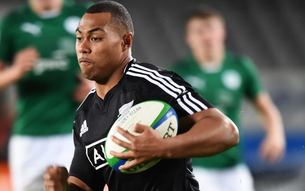 The New Zealand Under 20's wing Tevita Li in action.