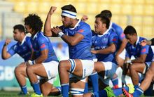 The Samoa Under 20s perform the Siva Tau.