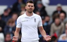 The England fast bowler James Anderson during the second test against New Zealand.