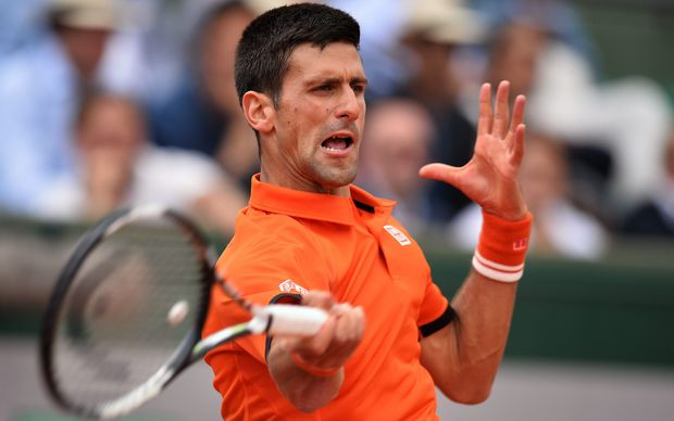 The tennis world number one Novak Djokovic at the 2015 French Open.