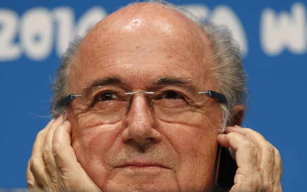 The outgoing FIFA president Sepp Blatter, who resigned from his role.