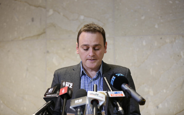 Lecretia Seales' husband Matt Vickers speaking at a news conference in Wellington on Friday.