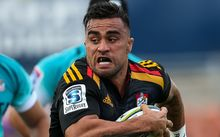 The Chiefs captain Liam Messam on the charge.
