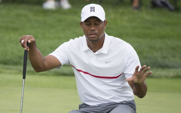 Tiger Woods during the third round of the Memorial Tournament, 2015.
