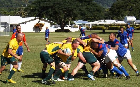Samoa and Australia play the first ever deaf rugby match in Samoa.