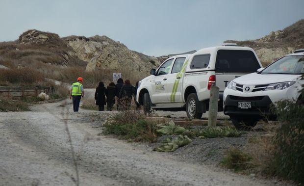 Family members arrived at the quarry on Tuesday.