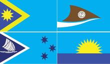 A selection of the finalists of Fiji's new flag