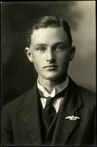 This is an image of a Studio portrait of Gordon Alfred Eliott, c.1918 who graduated  from the Walsh Flying School  in 1918