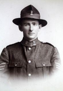 Image of Deborah Taylor's older brother George killed in 1917