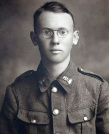 Image of Deborah Taylor's younger brother Brian, killed in 1918
