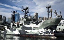 Sea Sheperd's anti-whaling ship the Sam Simon in Sydney.