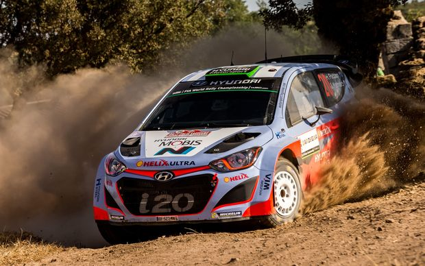 Hayden Paddon in action in Sardinia