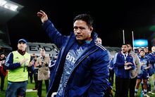 Keven Mealamu bids farewell to the Blues faithful at Eden Park