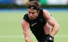 The Black Sticks' Andy Hayward in action.