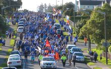 Porirua march for Jerry Collins