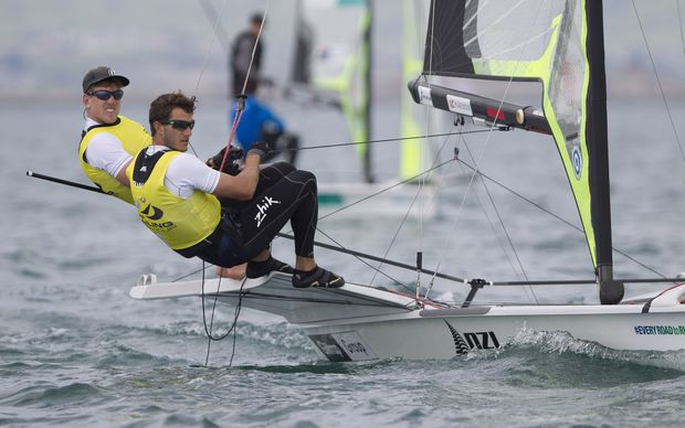 Peter Burling and Blair Tuke pick up gold at the World Cup in Weymouth. 2015