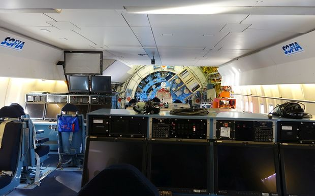 Inside SOFIA, the world's largest airborne space observatory.