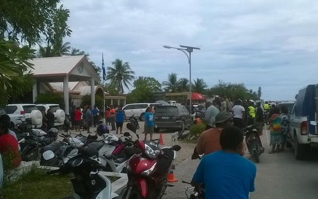 Crowds gather in Nauru
