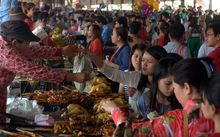 A market in the Cambodian capital of Phnom Penh.