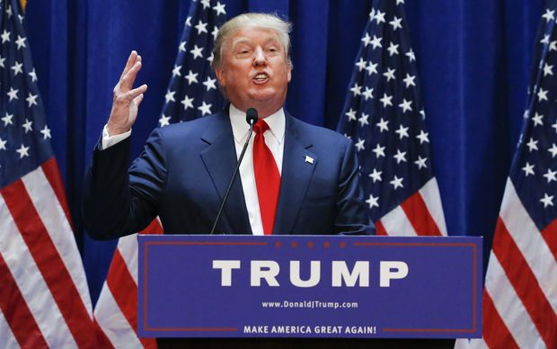 Donald Trump announces his bid for the US presidency in the 2016 presidential race.