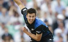 The Black Caps bowler Trent Boult in action.