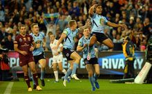 New South Wales celebrate State of Origin Two 2015.
