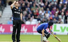New Zealand cricketer Matt Henry playing England 2015.