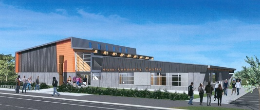 An artist's impression of the new Aranui Community Centre.
