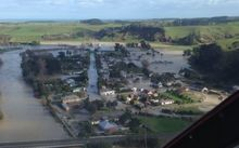 Aerial photo of Waitotara. Whanganui flood