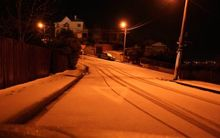 Snow in Dunedin's hill suburbs this morning.