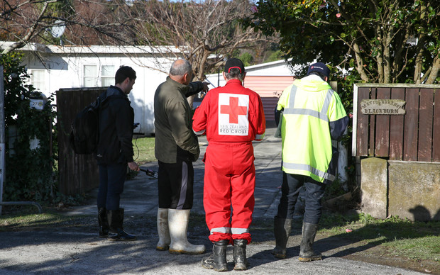 Council inspectors assess houses in flood-prone areas in Whanganui,