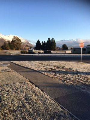 A frosty morning in Wanaka where temperatures dropped to - 4°C overnight.