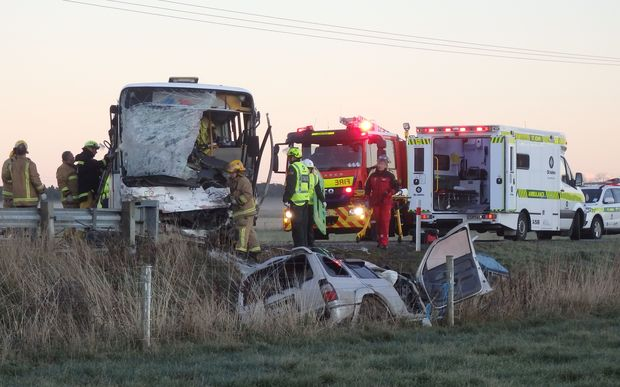 One person has died in a crash on the Christchurch-Akaroa road this morning.