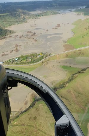 Aerial view of Waitotara Valley on Sunday.