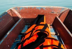 dinghy/ life jackets