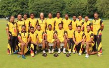 The PNG Barramundi's cricket team in the Netherlands.