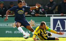 Striker Roy Krishna will be hoping he can again get the better of Phoenix captain Andrew Durante.