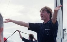 A 1994 picture of Laurent Bourgnon, the Swiss sailor who has been declared missing in French Polynesia.