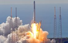 Space X's Falcon 9 rocket lifts off from Cape Canaveral, it exploded minutes later.