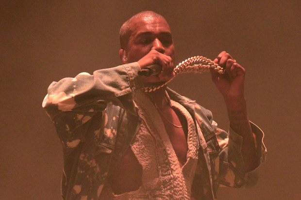 US rapper Kanye West's performance drew a mixed response.