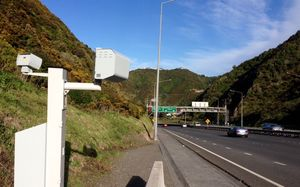 Speed camera at Ngauranga Gorge