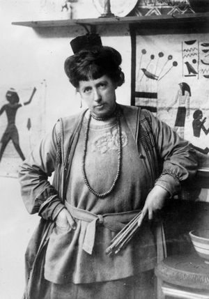 Frances Hodgkins in 1920 when the Hampstead Gallery, London, held an exhibition of her work.