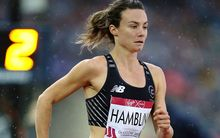 Nikki Hamblin competing at the Glasgow Commonwealth Games.