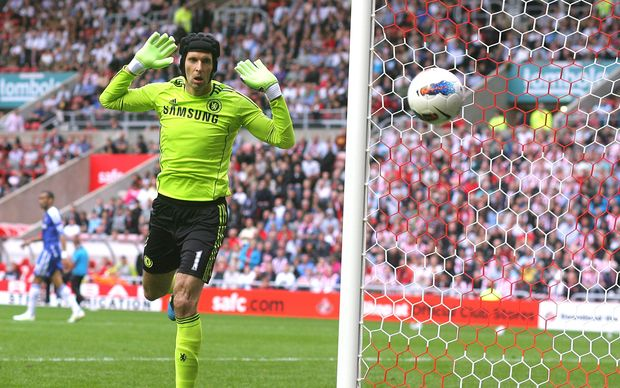 Czech Republic goal keeper Petr Cech