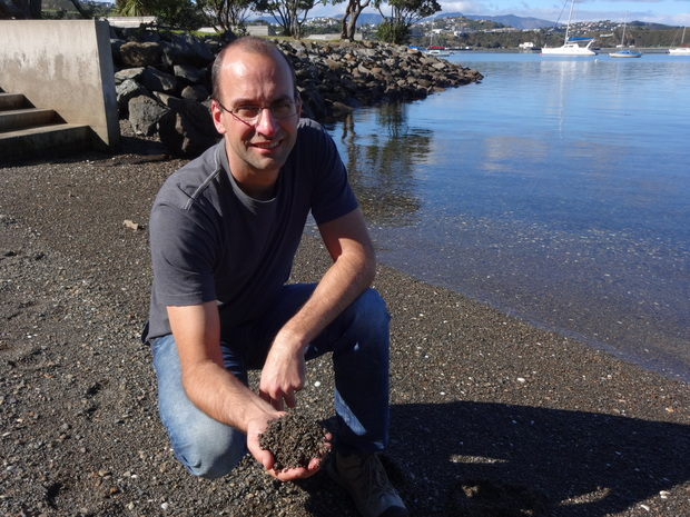 NIWA marine biologist Daniel Leduc at Hataitai beach in Wellington, where he discovered a new species of nematode.