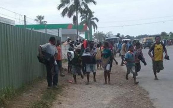 Looters on the loose in Madang town, Papua New Guinea.