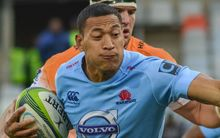The Wallabies fullback Israel Folau playing Super Rugby for the NSW Waratahs.