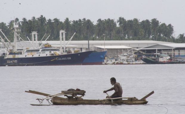 Fishing vessels, both modern and traditional, in the Madang lagoon, Papua New Guinea; site of the planned Pacific Marine Industrial Zone.